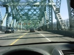 Crossing the Cartier Bridge to Longueuil